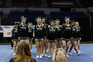 Tigard cheer competes at state for the first time in over ten years