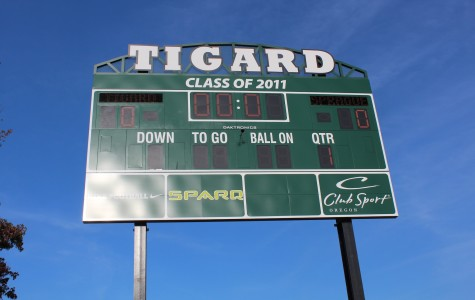 Construction of new scoreboard is finally completed