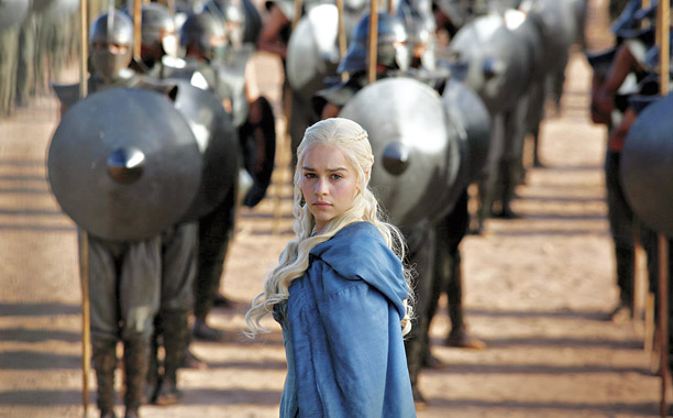 Emilia Clarke plays Daenerys Targaryen. Game of Thrones airs Sunday nights at 6PM on HBO.