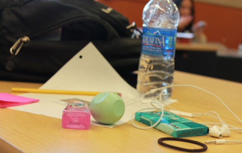 These items are the top 10 suggested things each student needs in their backpacks. These items include gum, headphones, chap stick, gum, pencils,paper,sticky notes, hair tie, I.D card and water.