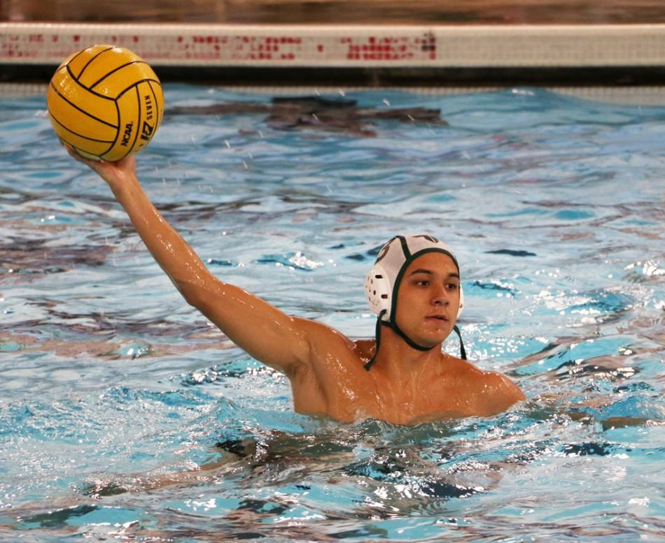 Junior Noah Torgerson, a player on varsity boys water polo