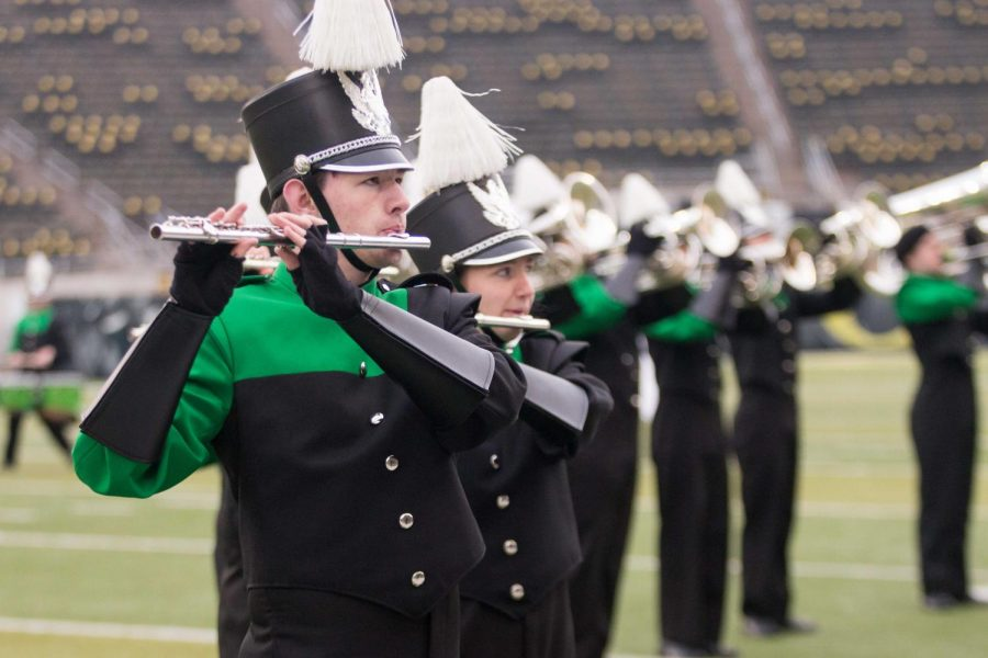 Marching ensemble honored by school board
