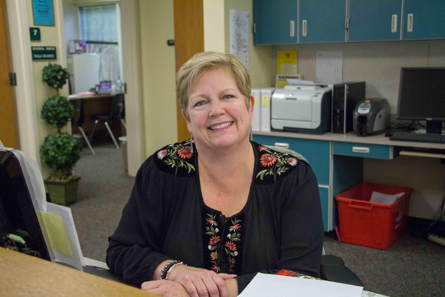 Brenda Anderton works in the Student Services Office.