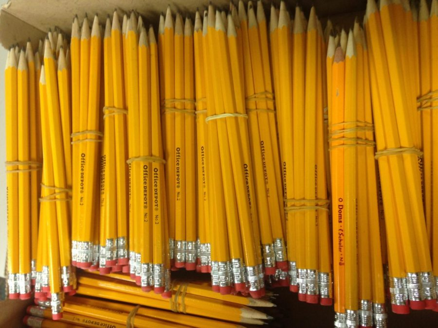 Boxes of #2 pencils in the main office mean that it is standardized testing season.