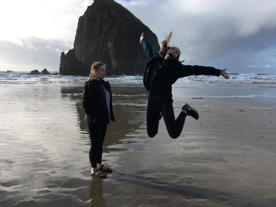 A getaway to Cannon Beach could be a good spring break day trip. Emma and Liz Blodgett enjoyed a day at the beach.
