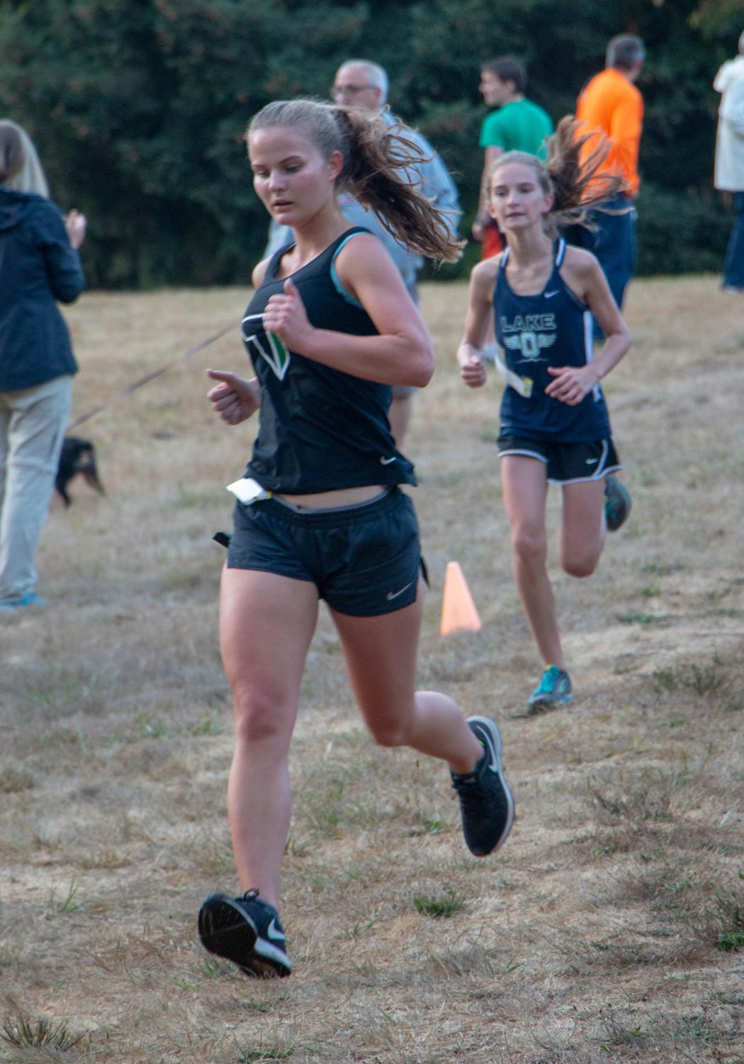 Senior Rebecca Christianson looks forward to the season. She finished 17th in 23:12.8 at the Sept. 12 meet at Canby.