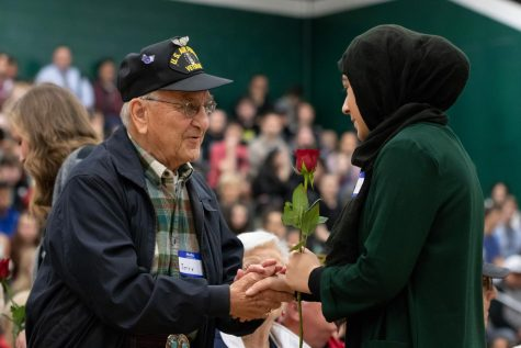 Country roads, take me home to Tigard High's Veterans Day Assembly