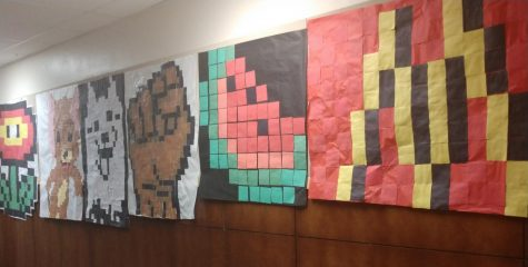Pixel art floods the halls