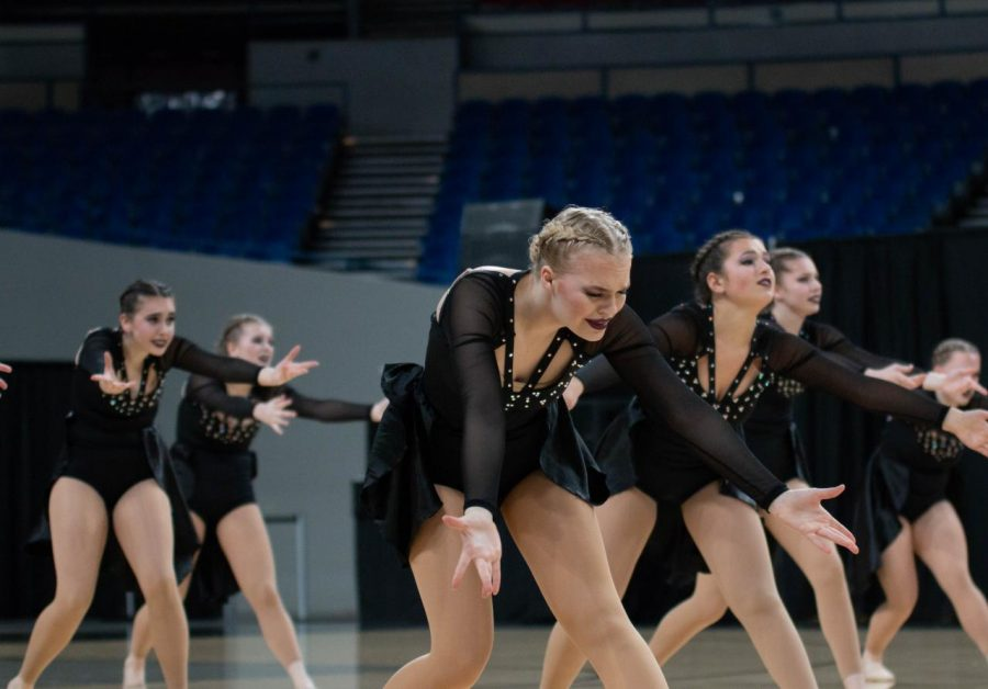 The Tigerettes perform at Veterans Memorial Coliseum on March 15. They won state for the second  year in a row.