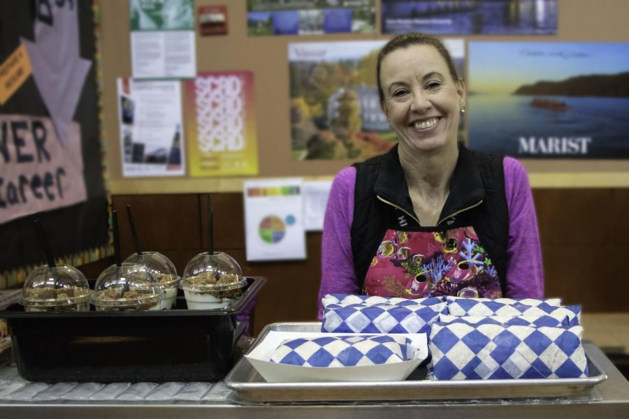 Cindy Harbison runs the lunch counter at Four Corners. She enjoyed getting to know the students she served each day.