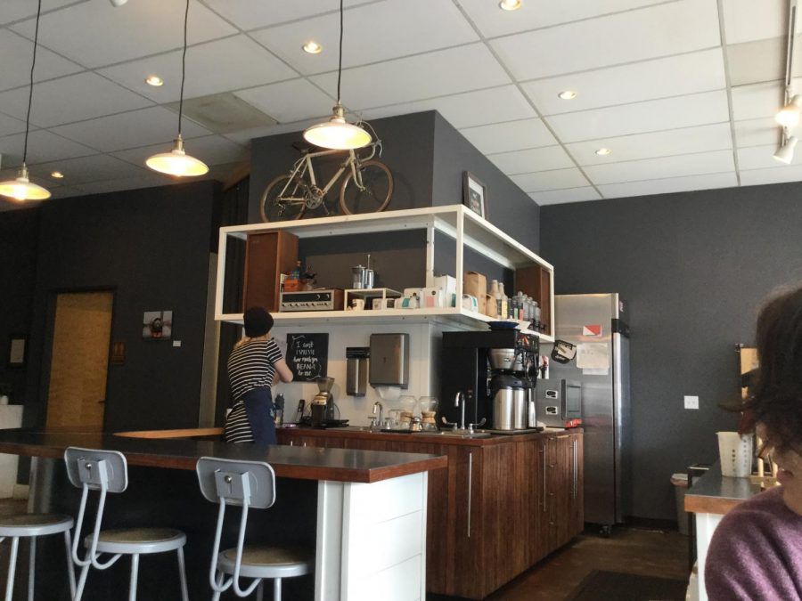 Lionheart Coffee Co. located at 11421 Scholl's Ferry Road has a cool coffeehouse vibe.