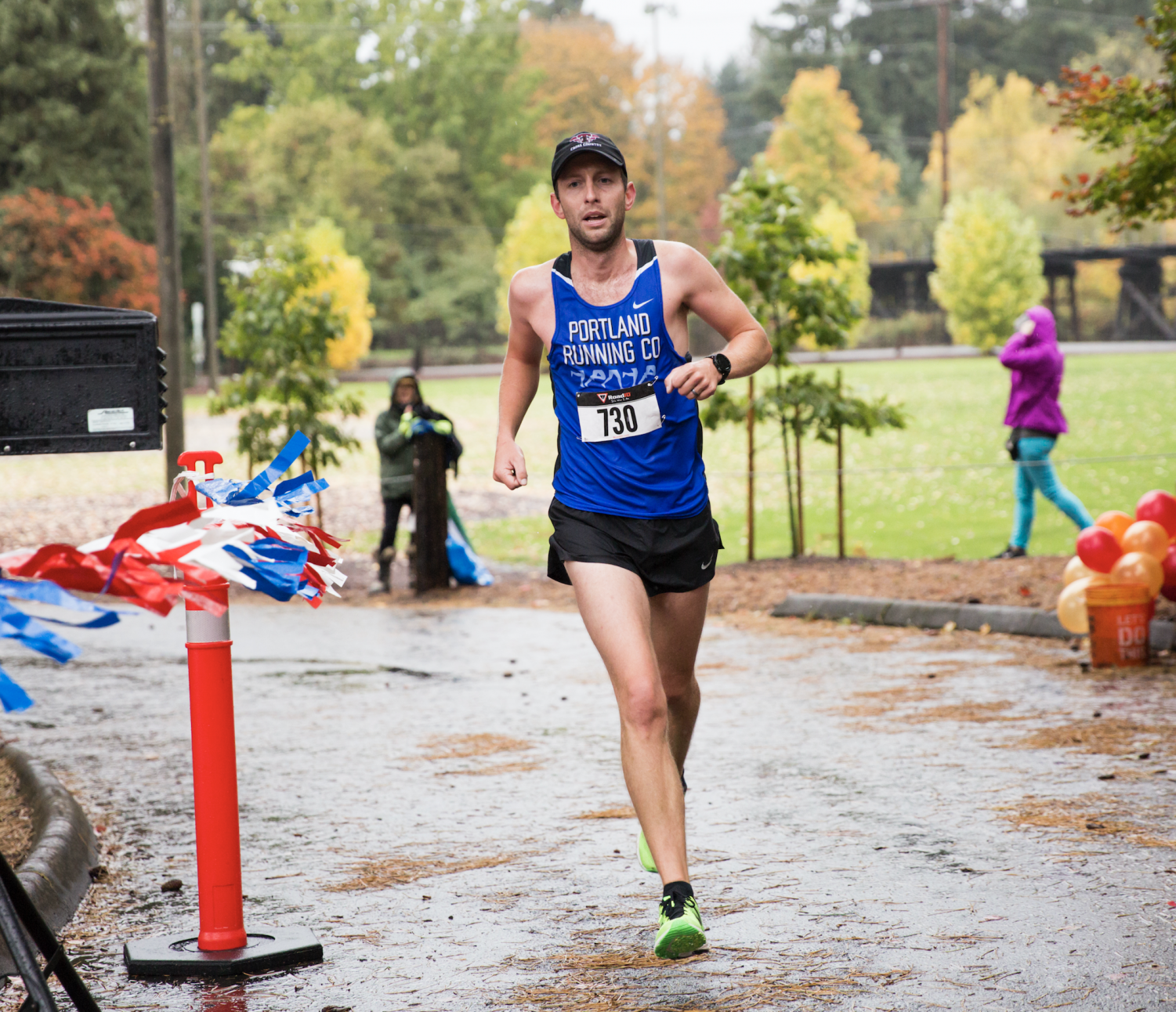 Chris McIsaac runs in the 2017 5K Regatta Run. He hopes to run a sub 2:30 marathon in Boston.