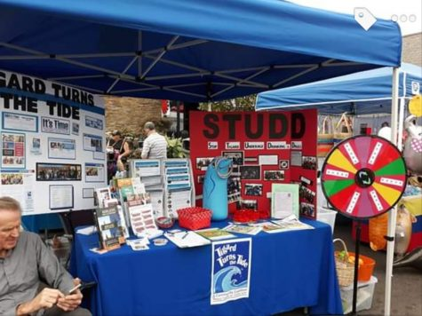 STUDD advertises their student club and adult community provider, Tigard Turns the Tide, at the Tigard Street Fair on Sept. 14. The colorful wheel attracted many kids.
