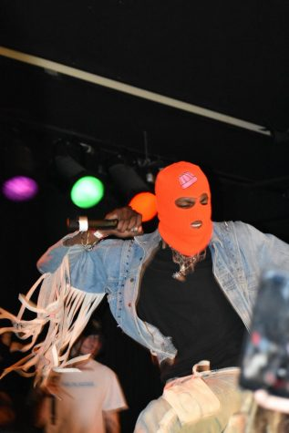 Connect Zero starts his Roseland show wearing an orange ski mask. His stage presence energized the crowd before Comethazine started his show.