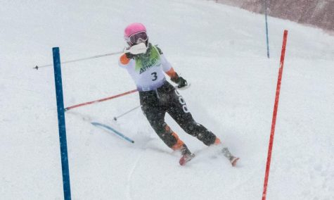 Sophomore Megan Wargo placed sixth overall at the Ski Bowl meet on Jan. 8.