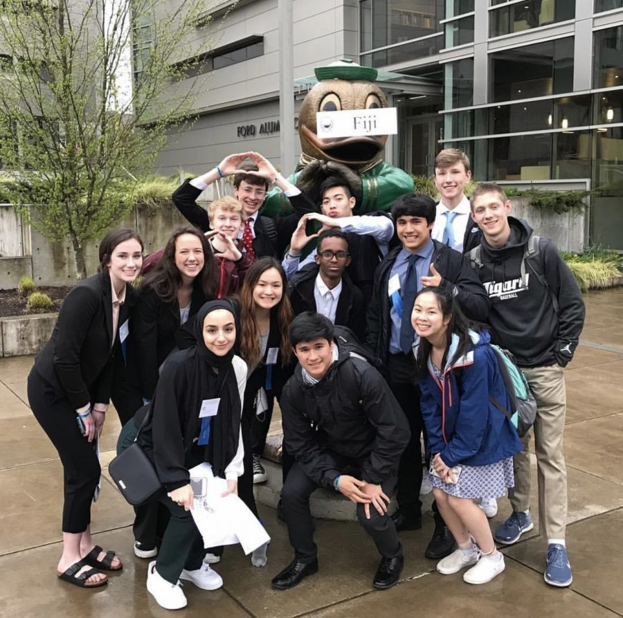 Tigard+students+participate+in+Model+United+Nations.+Last+year%27s+delegation+traveled+to+University+of+Oregon+to+represent+Fiji+at+the+high+school+convention.