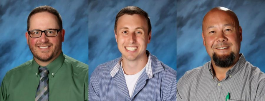 Bailey's everywhere! Can you tell who is who? From left to right: Principal Brian Bailey, math teacher Derek Bailey, and math teacher Stuart (Stu) Bailey.