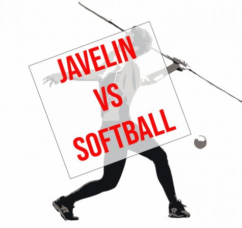 The javelin throw area and the softball field sit adjacent to each other in the southeast corner of campus. In past seasons, foul balls would land in near the javelin runway.