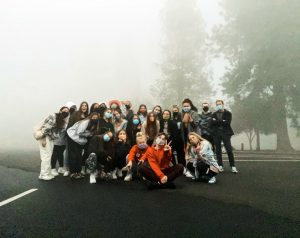 Because students couldnt meet face-to-face on campus, seniors organized their own Senior Sunrise at Cook Park. The event didnt go off without a hitch. The smoke from wildfires covered the sun and even made visibility across the parking lot a difficulty.