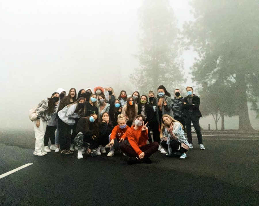 Because students couldn't meet face-to-face on campus, seniors organized their own Senior Sunrise at Cook Park. The event didn't go off without a hitch. The smoke from wildfires covered the sun and even made visibility across the parking lot a difficulty.