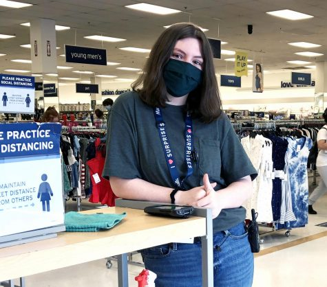 Senior Georgia Black notices the effects of the new mask mandate at work. She had mixed feelings about it. While it meant the pandemic was easing, businesses have been put in the position of enforcers.